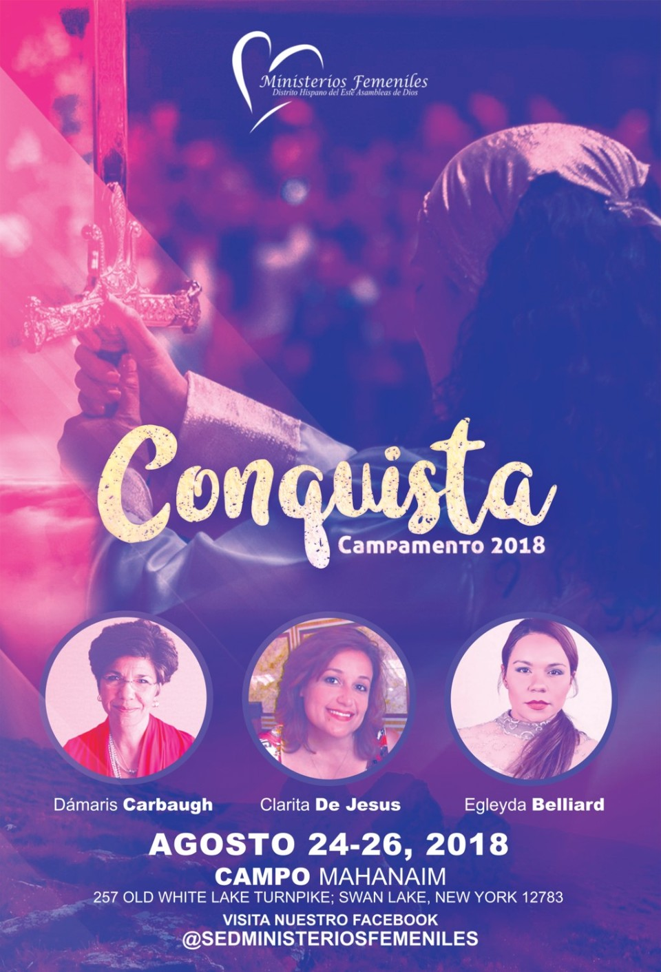 Campamento de Damas 2018 - Conquista Flyer JPEG